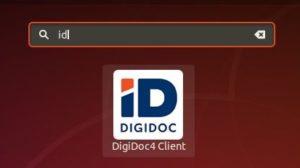 DigiDoc4 client logo in Ubuntu